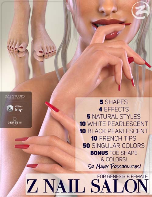 Z Nail Salon for Genesis 8 Female(s) » Daz3D and Poses