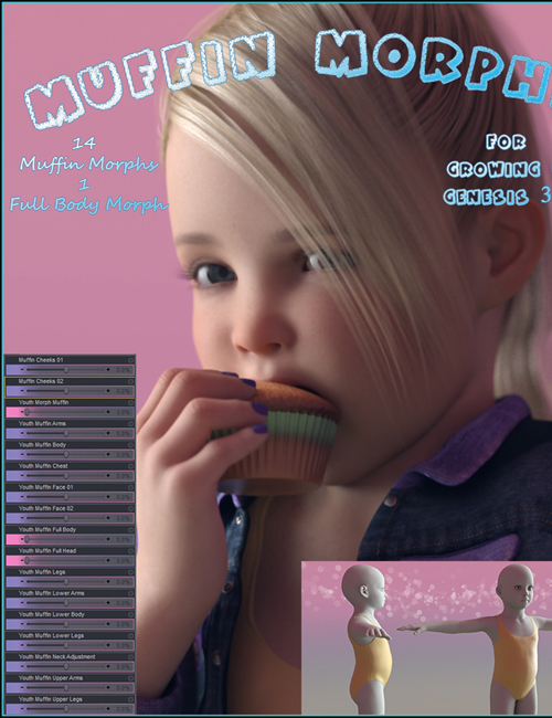 Muffin Morphs for Growing Up » Daz3D and Poses stuffs