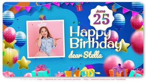 Videohive - Happy Birthday Stella! - 31882929
