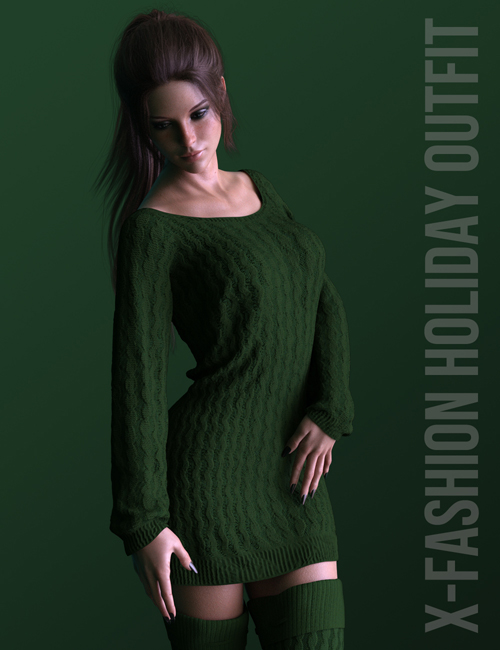 X-Fashion Holiday Outfit for Genesis 8 Females