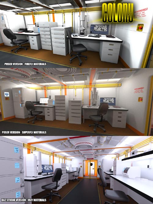 Colony Lab for Poser and DS