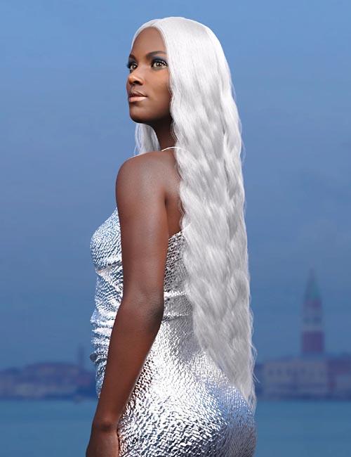 dForce Mermaid Hair for Genesis 8 and 8.1 Females