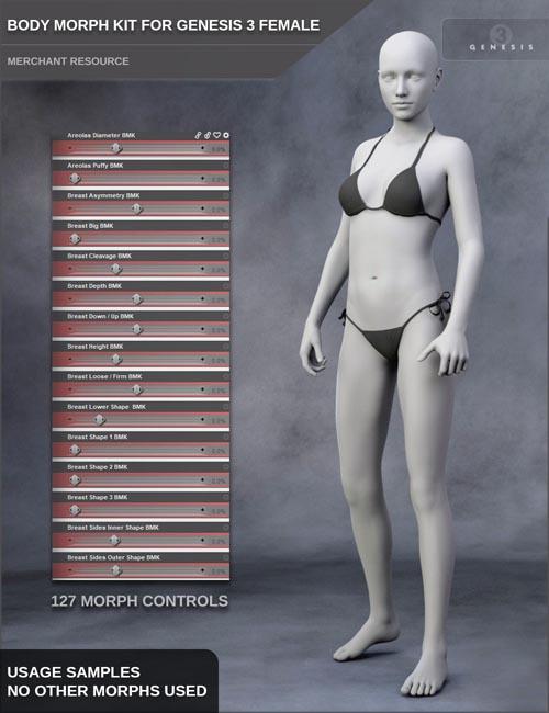 Body Morph Kit for Genesis 3 Female and Merchant Resource