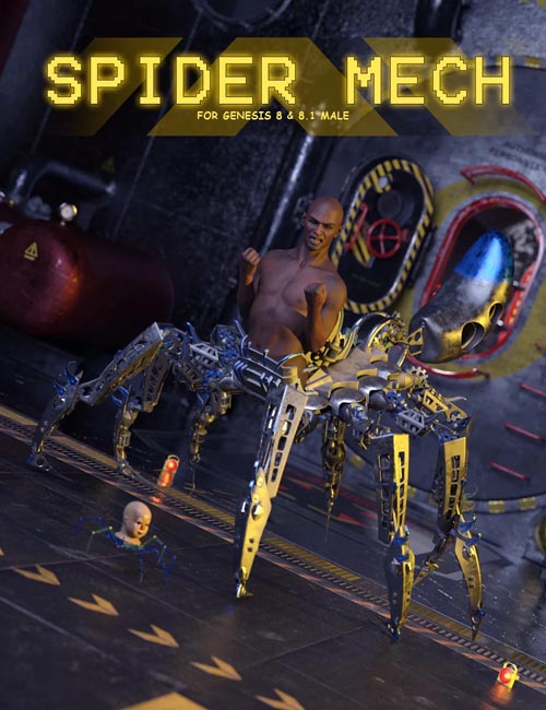 Spider Mech for Genesis 8 and 8.1 Male