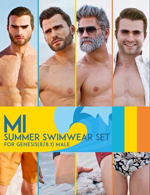 MI Summer Swimwear Set for Genesis 8 and 8.1 Males