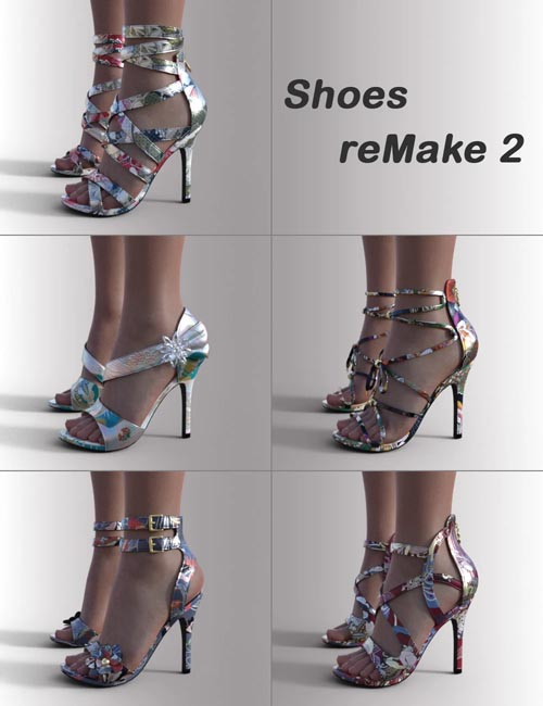 Shoes ReMake 2 for Genesis 8.1 Females