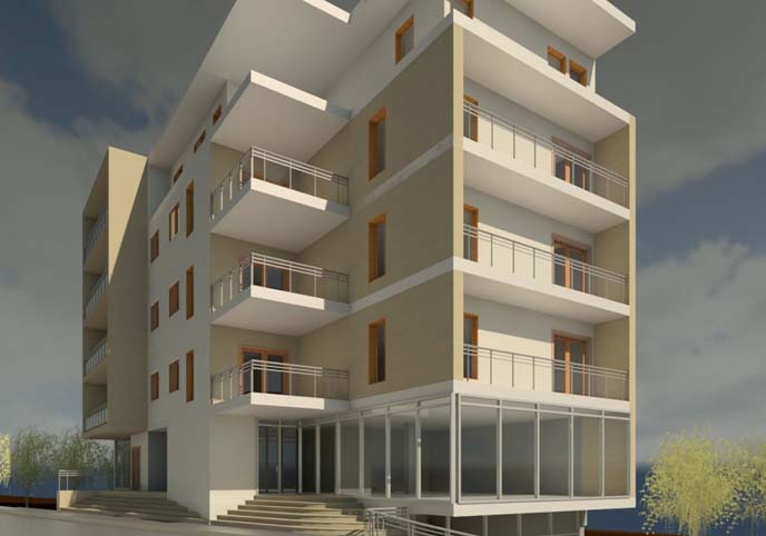Modern commercial appartment building