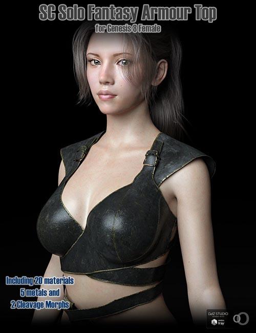 SC Solo Fantasy Armour Top 01 for Genesis 8 Female