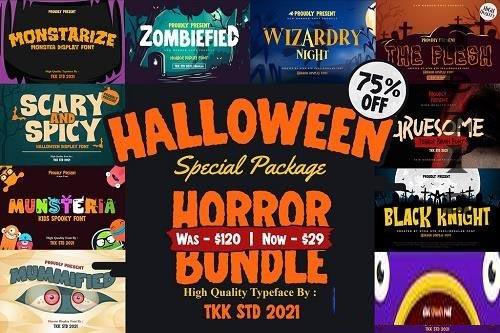 Horror Font Bundle - 6399713