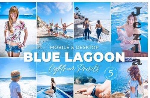 Blue Lagoon Mobile Desktop Lightroom Presets Lifestyle Instagram