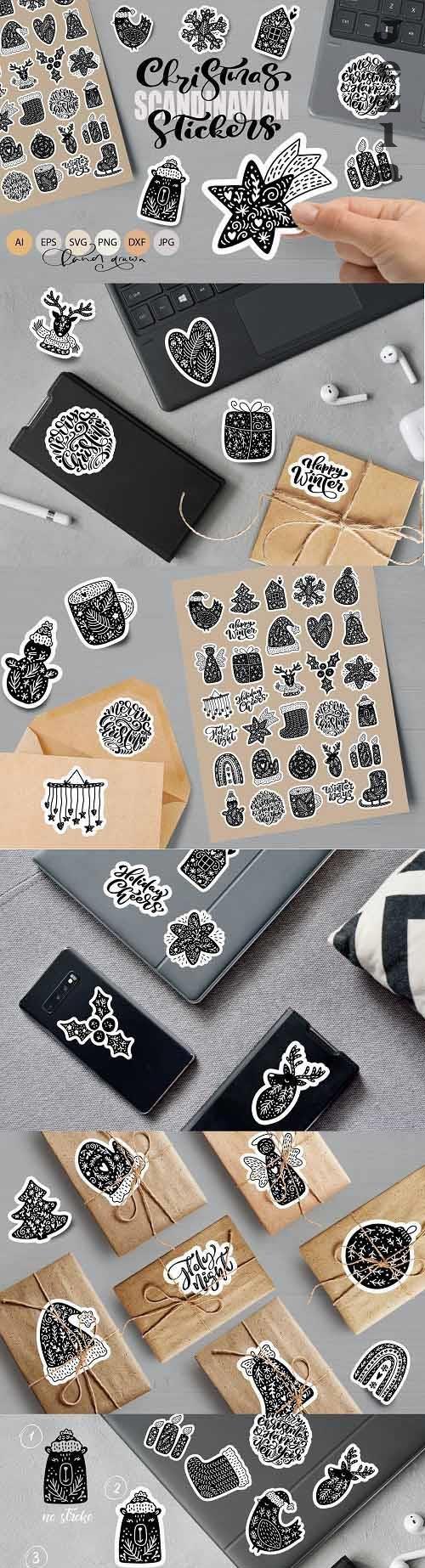 Christmas Scandinavian Stickers - 6545610