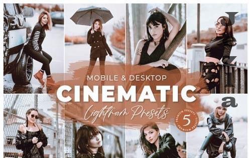 Cinematic Mobile Desktop Lightroom Presets Lifestyle Instagram
