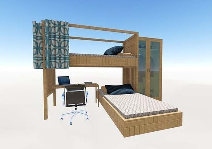 Modern Wooden Bunk Bed - Bedroom Youth