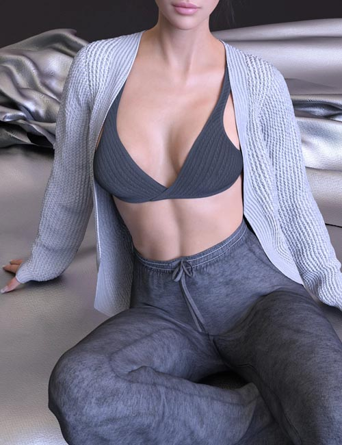 X-Fashion Lazy Outfit for Genesis 8 and 8.1 Females