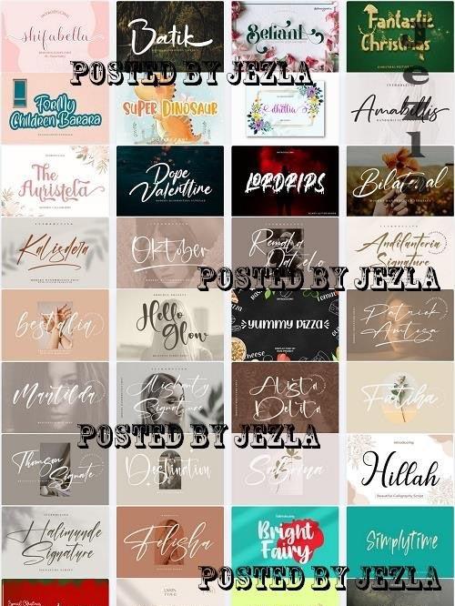 Mix Font Bundle 70 - 36 Premium Fonts