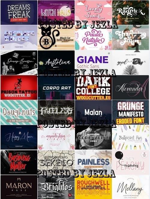 Mix Font Bundle 65 - 36 Premium Fonts