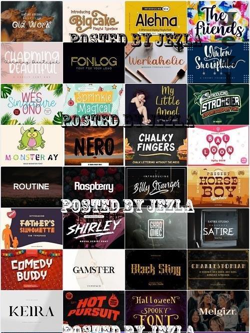 Mix Font Bundle 66 - 36 Premium Fonts