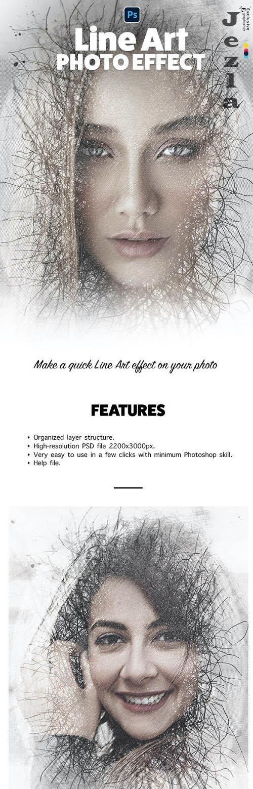 Line Art Photo Effect - 33286989