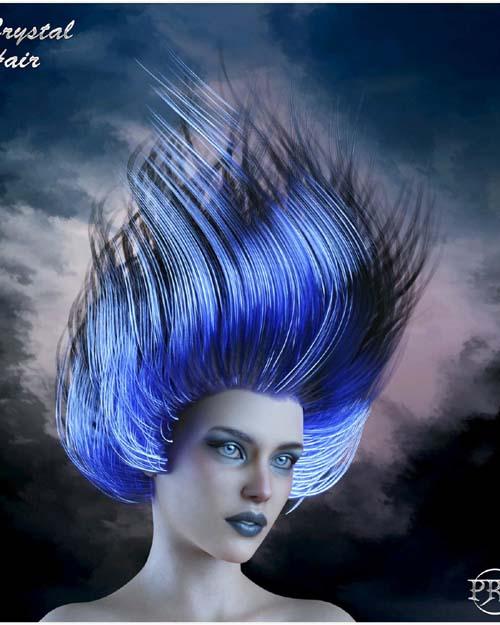 Prae-Ice Crystal Hair for G8 Daz