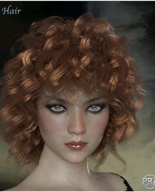 Prae-Neith Hair For G3 G8 Daz