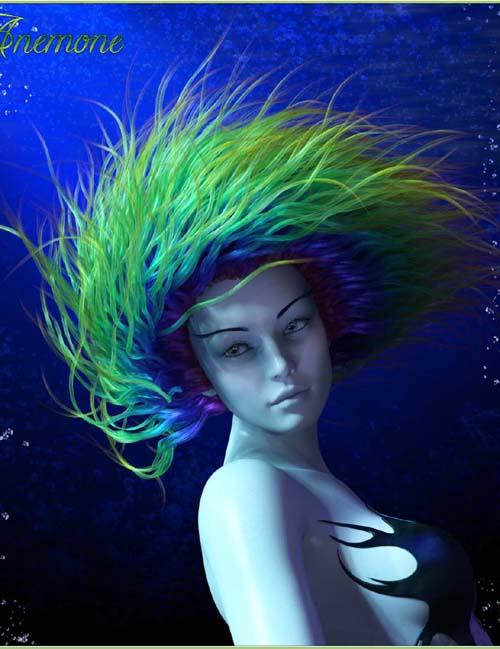 Prae-Anemone Hair For G8 Daz
