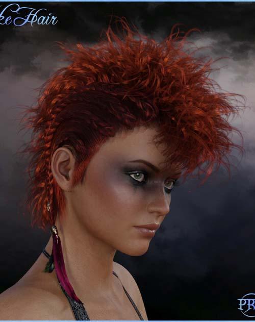 Prae-Vyke Hair For G8 Daz