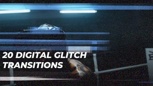 Videohive - Digital Glitch Transitions - 31802776