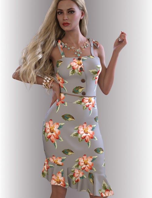 dForce Reina Outfit for Genesis 8.1 Females
