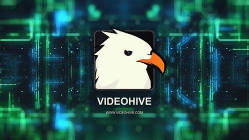 Videohive - 4k Digital Technology Logo Reveal - 28207994