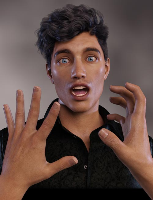 Head & Hands Poses for Genesis 8.1 Male