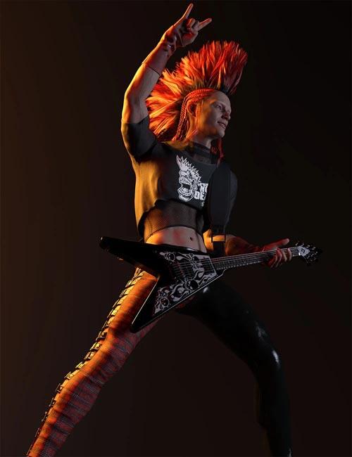 Rocker Dude for Genesis 8 Males