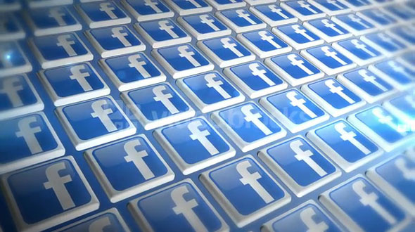 Moving Wall of Facebook Icons