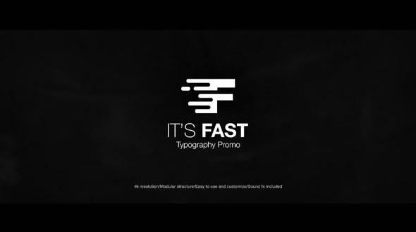 It's Fast - Typography Promo