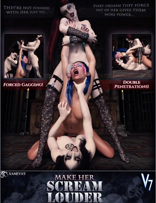 Scream Louder Dickgirl - Double Penetration Poses V7