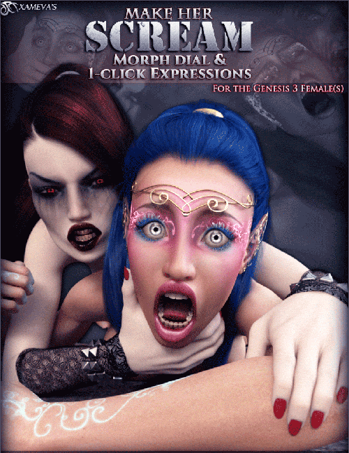 Make Her Scream - Morph Dial And One-Click Expressions For G3