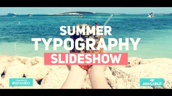 Summer Typography Slideshow