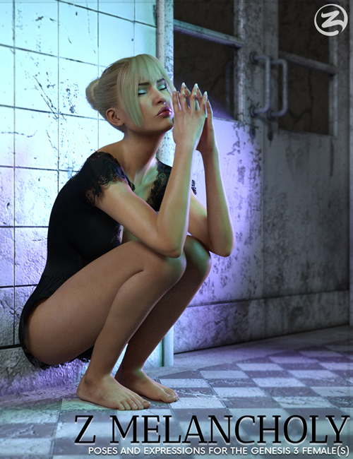 Z Melancholy - Poses and Expressions for the Genesis 3 Female(s)
