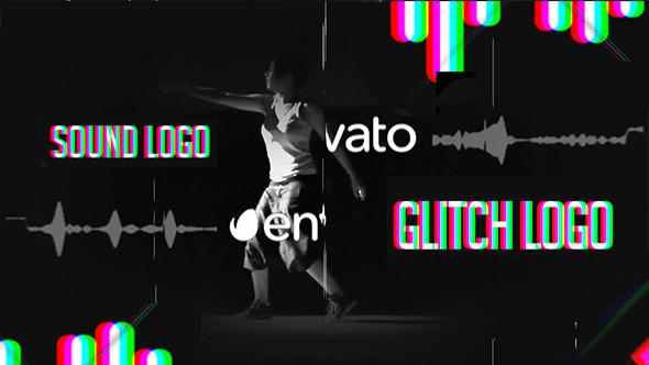 Sound Glitch - Logo Reveal