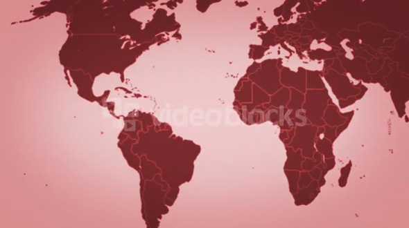 Soft World Map Red