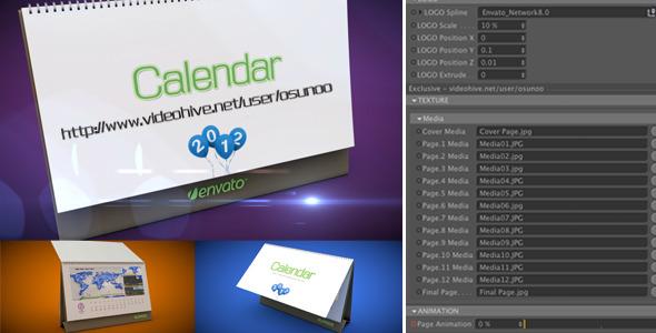 3D Calendar Preset
