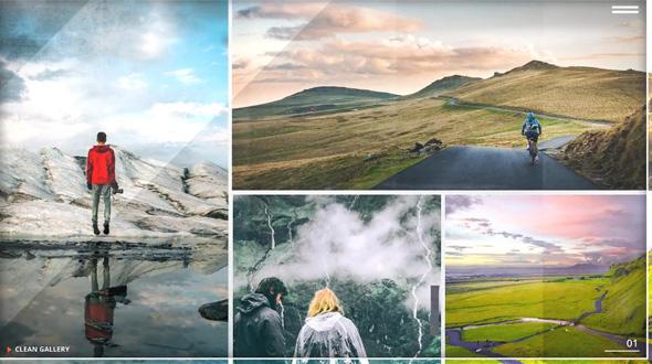Clean Photo Gallery - Image Slide Opener