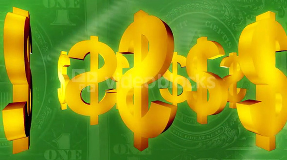 Dollar Sign Over Money 2