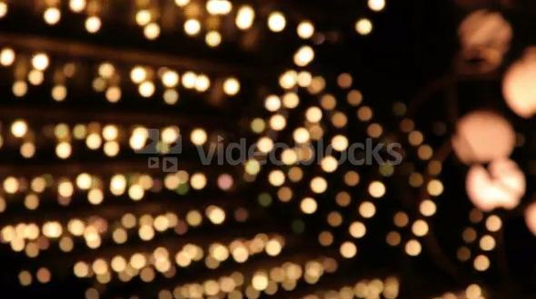 Flickering White Vegas Lights