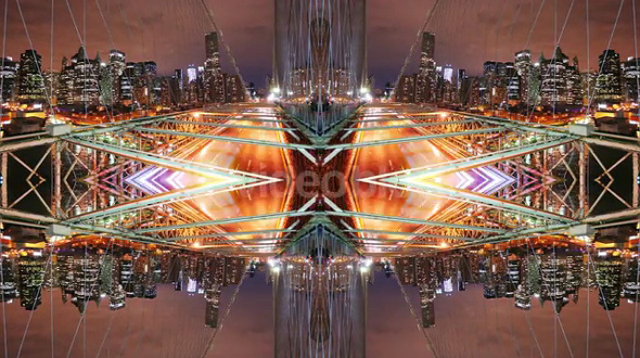 Brooklyn Bridge Mirror Abstract