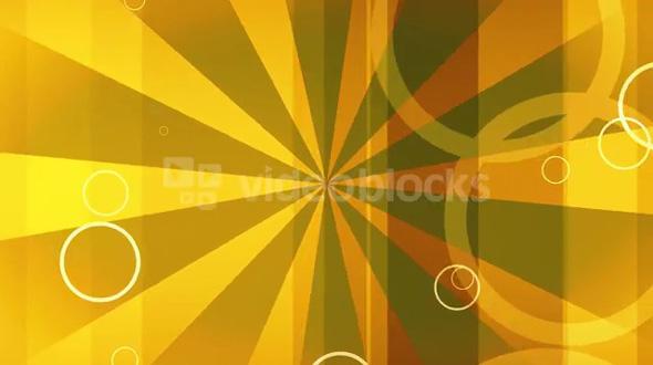 Golden Pinwheel With Circles