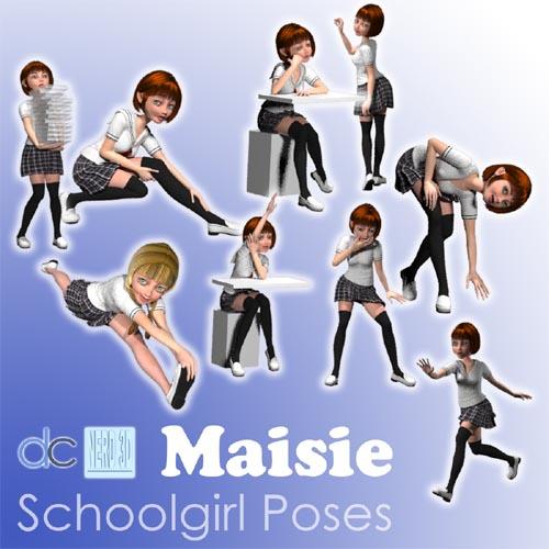 Schoolgirl Poses for Maisie