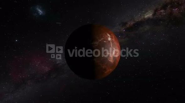 Rotating Venus Planet