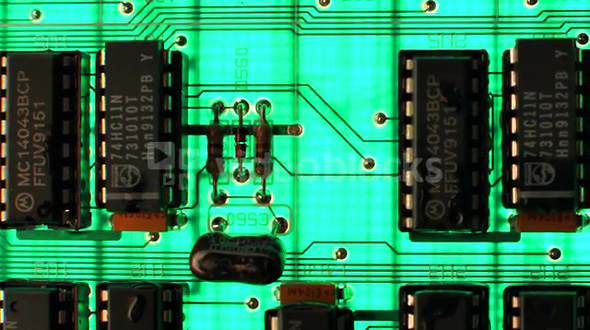 Circuit Board Zoom Out