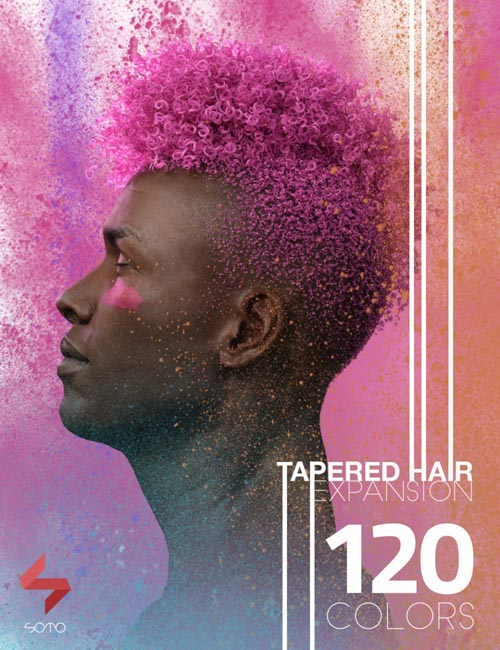 Tapered Hair Expansion for Genesis, Genesis 2, and Genesis 3