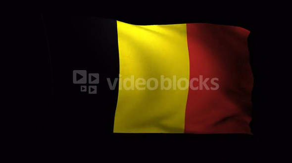 Belgium Flag 3D Render with Alpha Channel